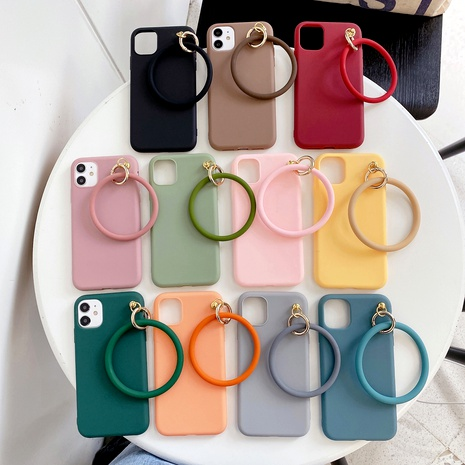 bracelet is suitable for mobile phone case Samsung S20FE mobile phone case A90 thickened S20 solid color M20 matte  NHKI294398's discount tags