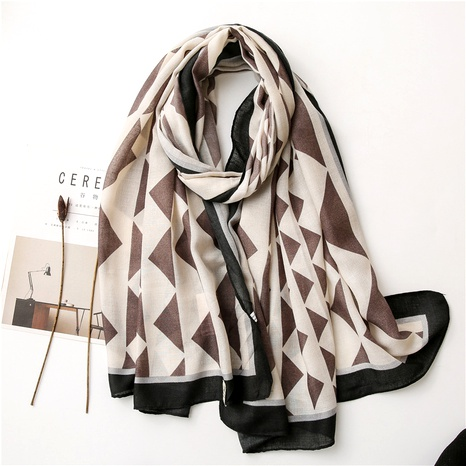 cotton and linen scarf  NHGD294402's discount tags