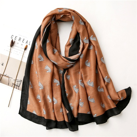 fashion cotton and linen scarf  NHGD294403's discount tags