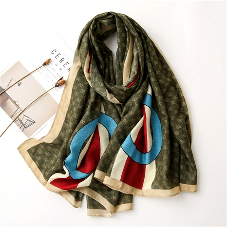 cotton and linen letter scarf  NHGD294409's discount tags