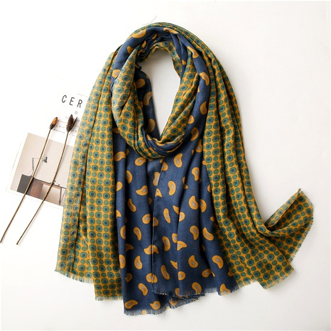 polka dot cashew hit color cotton and linen scarf NHGD294411's discount tags