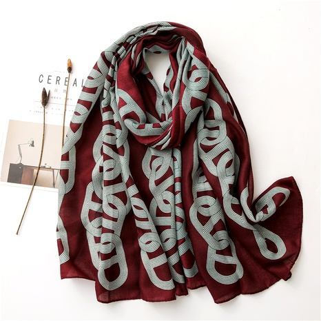 cotton and linen silk scarf NHGD294413's discount tags