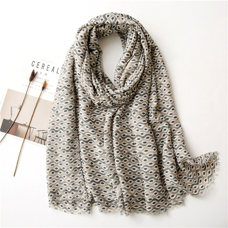 Cotton and linen fashion scarf NHGD294415's discount tags