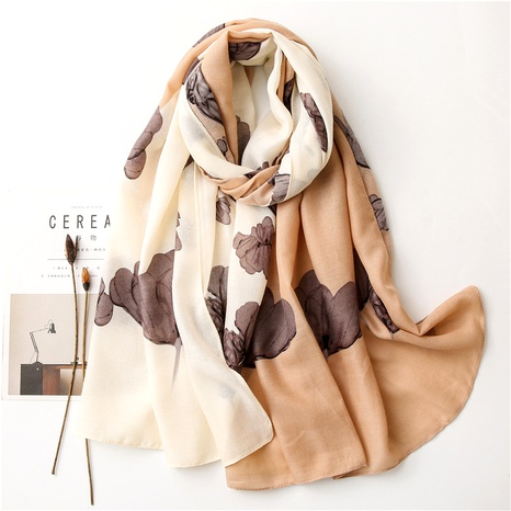 cotton and linen stitching long scarf NHGD294417's discount tags