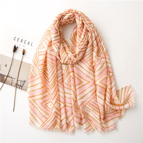 printing cotton and linen scarf NHGD294419's discount tags
