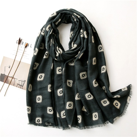 polka dot cotton and linen scarf  NHGD294420's discount tags