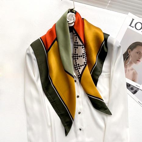 nouveau foulard carré en soie NHCJ294422's discount tags