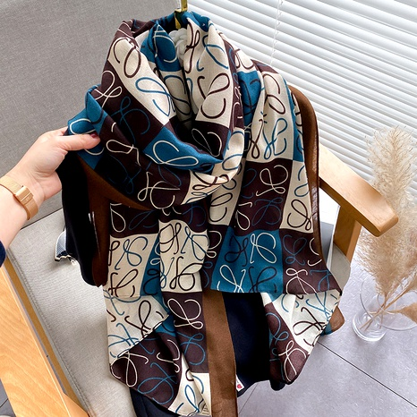 silk cotton and linen scarf  NHCJ294429's discount tags