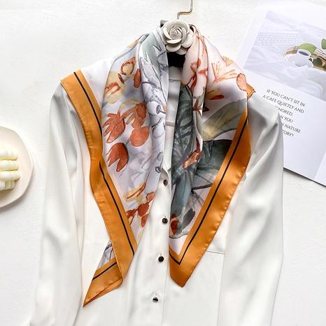 nouveau foulard en soie rétro NHCJ294432's discount tags