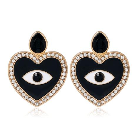 fashion metal simple devil's eye love stud earrings NHSC294739's discount tags