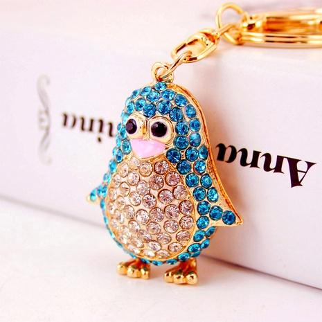 Creative cute diamond cartoon penguin keychain NHAK294516's discount tags