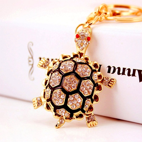 Creative oil dripping diamond crafts turtle key chain NHAK294517's discount tags
