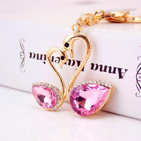 Porte-clés créatif mignon cygne en cristal de diamant NHAK294523's discount tags