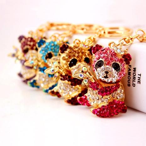 Creative Cute Diamond Cartoon Panda Keychain NHAK294525's discount tags