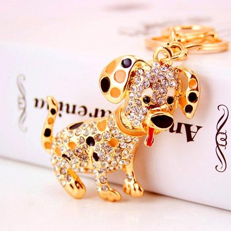 Creative Rhinestone Cute Puppy Keychain NHAK294528's discount tags