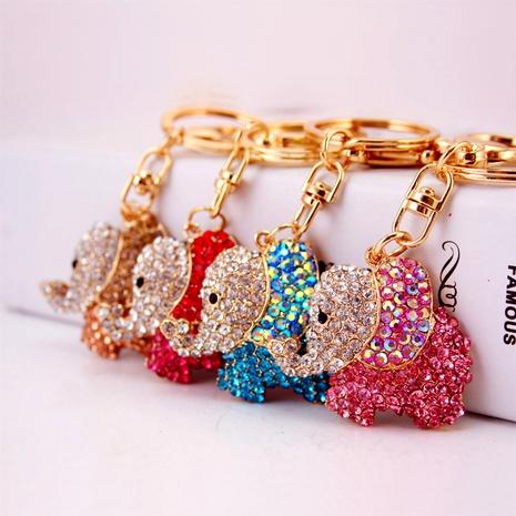 Creative Cute Color Diamond Elephant Key Chain  NHAK294530's discount tags