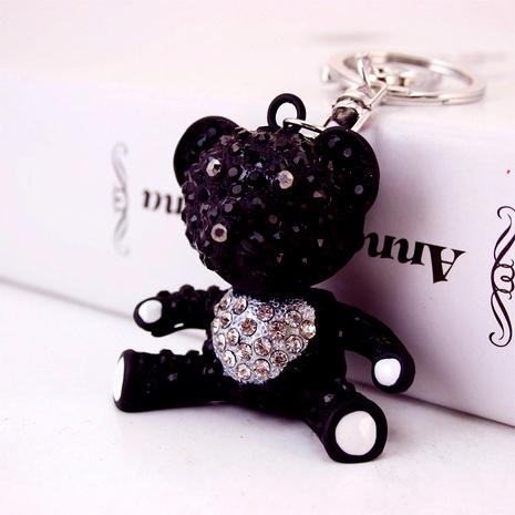 Llavero lindo creativo de la muñeca del oso del diamante negro NHAK294539's discount tags