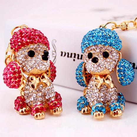 Llavero lindo creativo del perro del zodiaco de las orejas grandes del cristal del diamante NHAK294544's discount tags