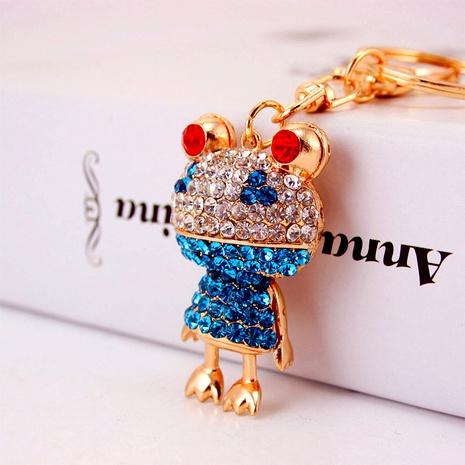 Creative diamond-studded frog car keychain NHAK294551's discount tags