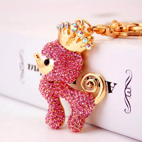 creative cute diamond crown poodle key chain NHAK294552's discount tags