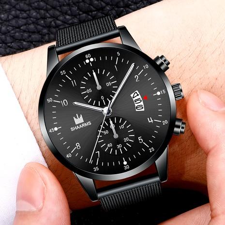 reloj de cuarzo con calendario de cinturón de malla NHHK294615's discount tags