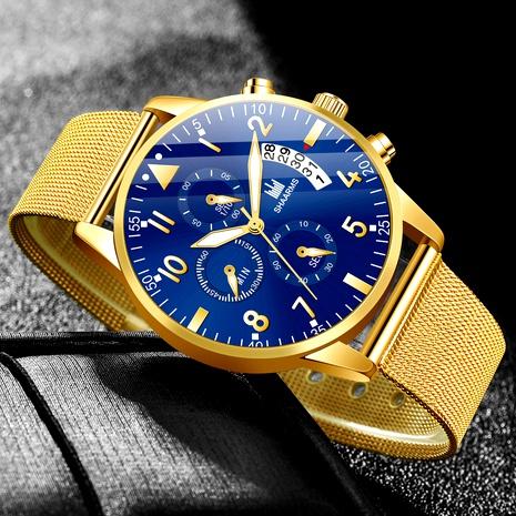reloj de cuarzo con calendario de cinturón de malla NHHK294616's discount tags