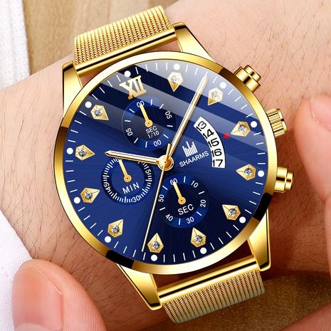 reloj de cuarzo con calendario de cinturón de malla NHHK294619's discount tags
