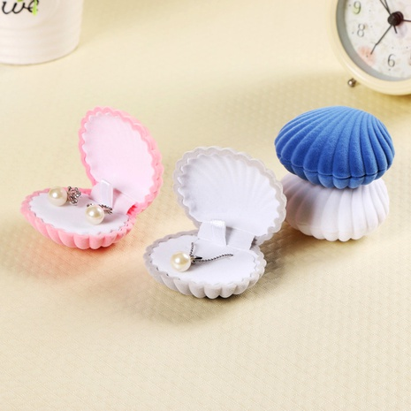 Flocking Shell Jewelry Box Korean Earrings Necklace Pendant Box NHQC294663's discount tags