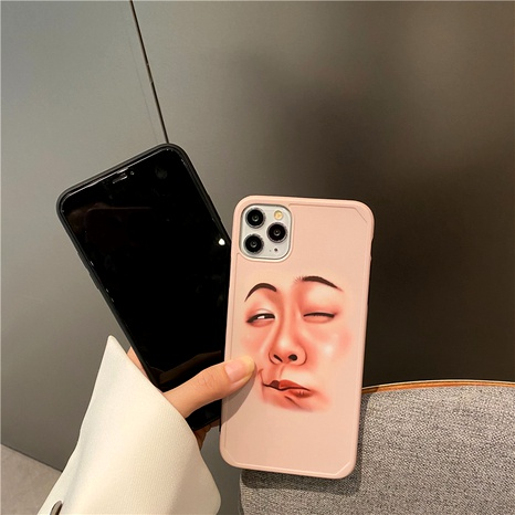 Funny couple selfie expression iPhone11 mobile phone case for Apple 7plus silicone soft cover XSXRSE2 NHFI294285's discount tags