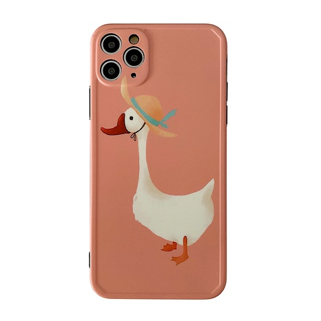 Korean straw hat duck Apple 11Promax all-inclusive camera phone case for 8plus protective cover se2  NHFI294282's discount tags