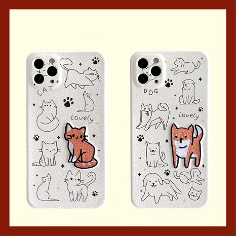 Cartoon cat puppy mobile phone case for iPhone12mini11pro Apple 78plusse2  NHFI294310's discount tags