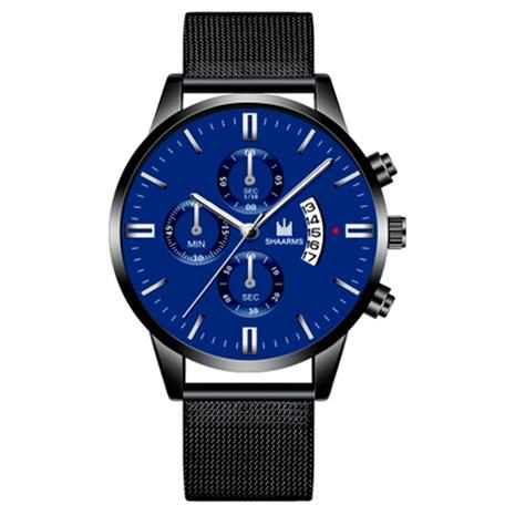 reloj de cuarzo con calendario de cinturón de malla NHHK294618's discount tags