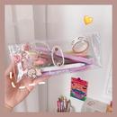 Korean simple pvc transparent portable cosmetic storage bag NHZE294482
