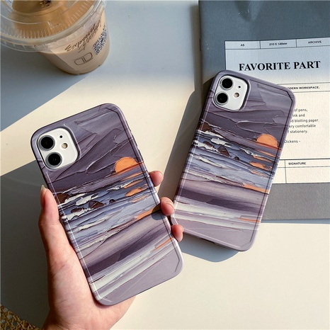 Sunrise oil painting Apple 11Pro mobile phone case for iPhone12miniXR anti-fall protective cover se2 NHFI294313's discount tags