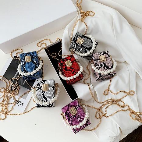 new Korean fashion chain snake pattern bag  NHLH294691's discount tags