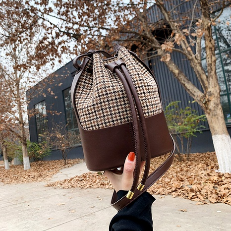 Korean new fashion stitching shoulder bag NHJZ294697's discount tags