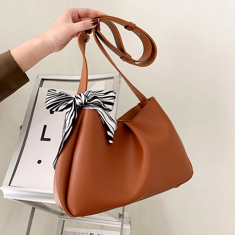 Simple new trendy retro one-shoulder armpit bag NHJZ294705's discount tags