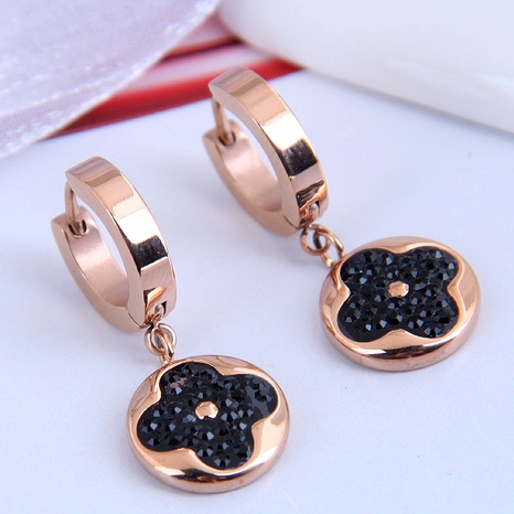 Korean fashion titanium steel personalized earrings NHSC295200's discount tags