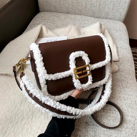plush new trendy fashion western retro one-shoulder square bag NHJZ294719's discount tags