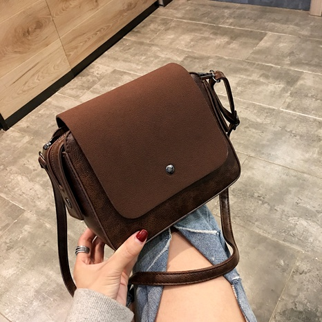 Korean fashion frosted casual retro square bag NHJZ294730's discount tags