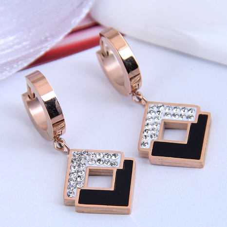 Korean fashion titanium steel personalized earrings NHSC295198's discount tags