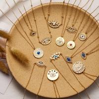 collar de ojo del diablo chapado en oro de moda NHOT294772