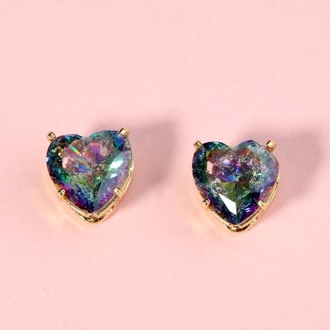 zircon heart earrings  NHAN294773's discount tags