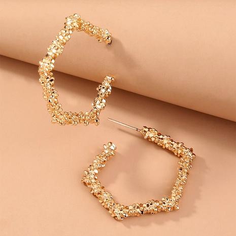 metal simple earrings  NHAN294775's discount tags