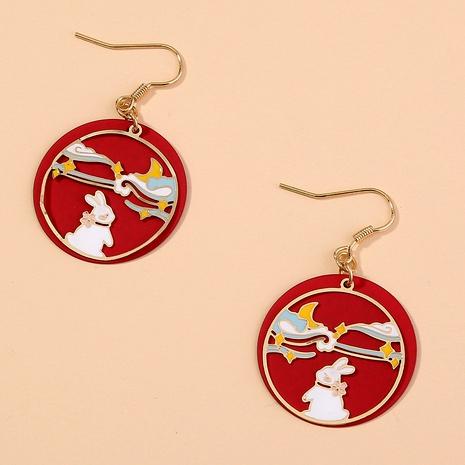 painted creative earrings NHAN294781's discount tags
