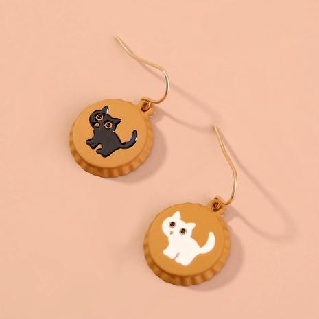cute cartoon cat earrings NHAN294785's discount tags
