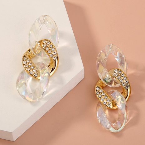 plastic chain diamond earring NHAN294788's discount tags