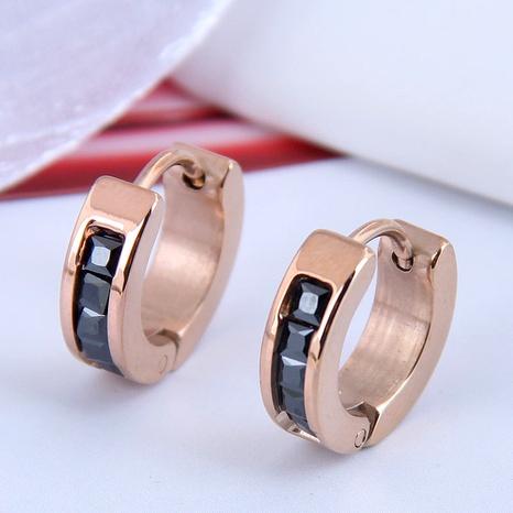 Korean fashion titanium steel simple diamond-studded earrings NHSC295197's discount tags