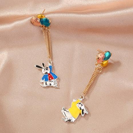 asymmetric cute balloon rabbit earrings  NHAN294796's discount tags