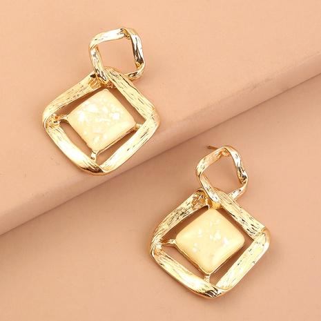 fashion white diamond big earrings  NHAN294801's discount tags